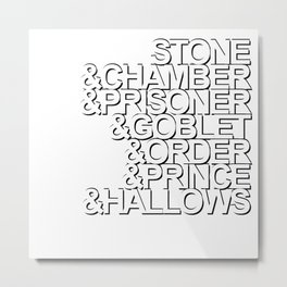 Harry Potter Ampersand [White] Metal Print