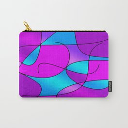 ABSTRACT CURVES #1 (Purples, Violets, Fuchsias & Turquoises) Carry-All Pouch