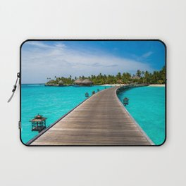 Fascinating Pier In Constance Halaveli Maldives Ultra HD Laptop Sleeve