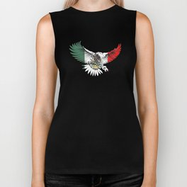 Flying Eagle Mexican Design Mexican Flag Design For Mexican Pride OUtline Biker Tank