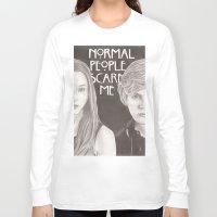 kris tate Long Sleeve T-shirts featuring Violet & Tate by JadeJonesArt