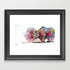 I'd rather be a rhino Framed Art Print
