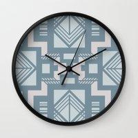 gatsby Wall Clocks featuring gatsby blue by Kozza