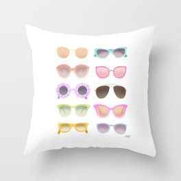 Colorful Sunglasses Throw Pillow