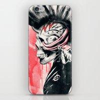 punk iPhone & iPod Skins featuring PUNK by Ali GULEC