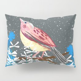 Stargazing Songbird Pillow Sham