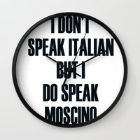 moschino Wall Clocks featuring Moschino by cvrcak