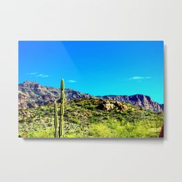Superstitions and Blue Sky Metal Print