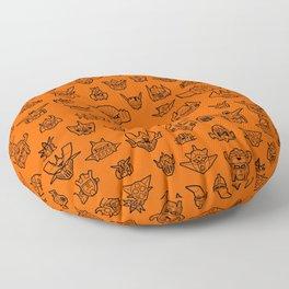 177 Robot Texture R Floor Pillow