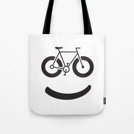Bike Smile - Smiley Face Tote Bag