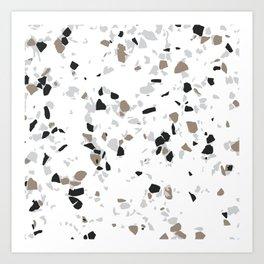 Terrazzo White Art Print
