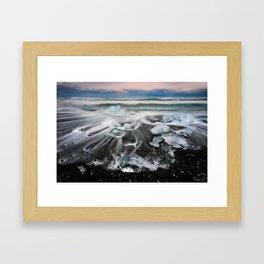 Sea Diamonds - Iceland  (RR125) Framed Art Print