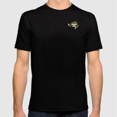 sloth in my pocket MEDIUM Black Mens Fitted Tee