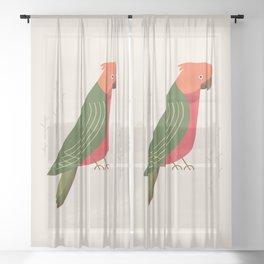 Australian King Parrot, Bird of Australia Sheer Curtain