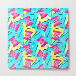 Memphis Sewing - Brights Metal Print
