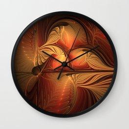 The Guardians Of Light, Abstract Fractal Art Wall Clock