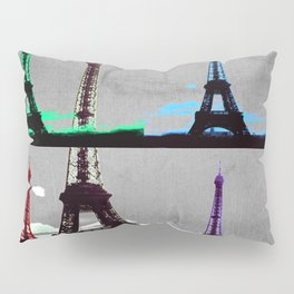 Paris, Eiffel Tower - Pop Art Pillow Sham