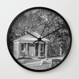 Black and White Photography Night Of The Loving Dead Chapel Wall Clock