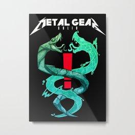 Metal Gear Solid Snakes Metal Print
