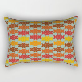 Retro Butterfly Print Rectangular Pillow