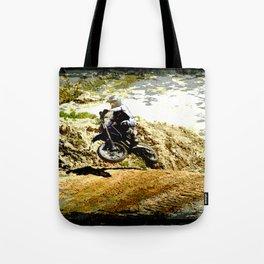 Dirt-bike Racer Tote Bag