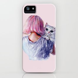 Pink Cuddles iPhone Case
