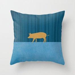 Tamworth Pig Print Throw Pillow