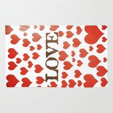 Love Heart Valentines Design  Rug