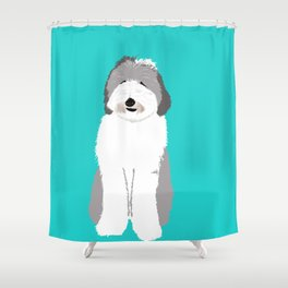 Lucy The Sheepadoodle Shower Curtain