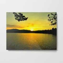 Sunset on Arrowhead Lake Metal Print