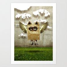 Fly try Art Print