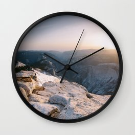Clouds Rest Sunset Wall Clock