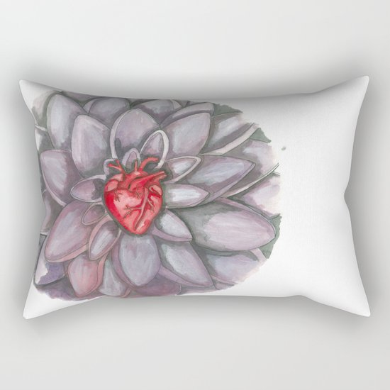 BLOOMING HEART Rectangular Pillow