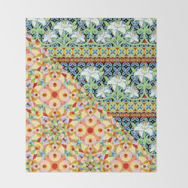Tangerine Confetti Lilies Throw Blanket