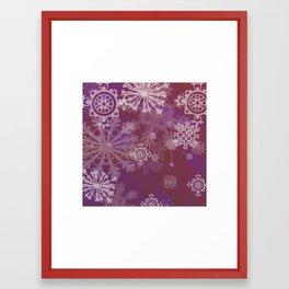 Purple Winter Framed Art Print