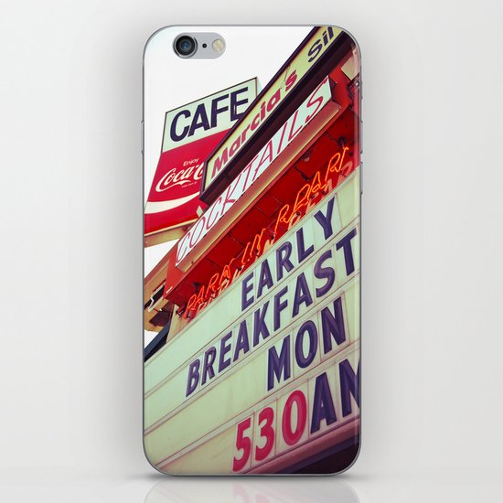 Diner angle iPhone & iPod Skin