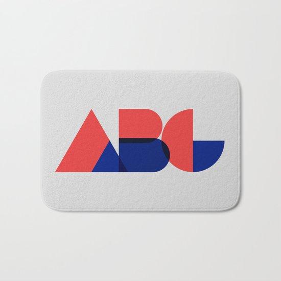 Geometric ABC Bath Mat