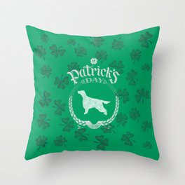 St. Patrick's Day Irish Setter Funny Gifts for Dog Lovers Throw Pillow