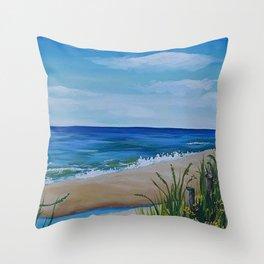 Riptide Beach Club Throw Pillow