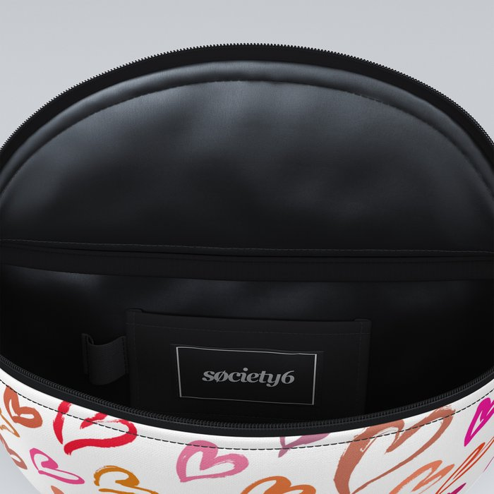 Colourful hearts seamless pattern Fanny Pack