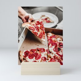 Pizza Slices (17) Mini Art Print