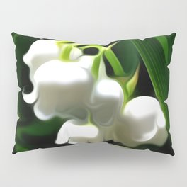 Painted Lily-of-the-Valley Pillow Sham