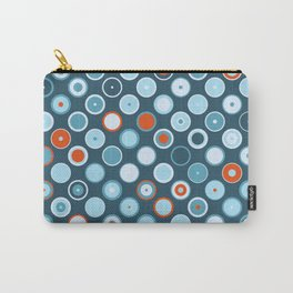 Rowanberry Winter Dots and Circles Night Carry-All Pouch