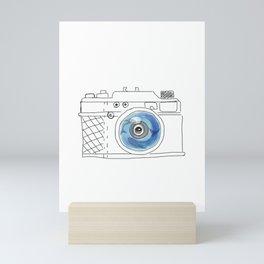Underwater camera: mom & baby whale Mini Art Print