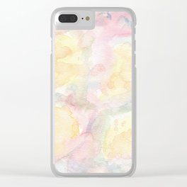 Watercolor Soles Clear iPhone Case