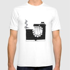 Zombie Boss Mens Fitted Tee White MEDIUM