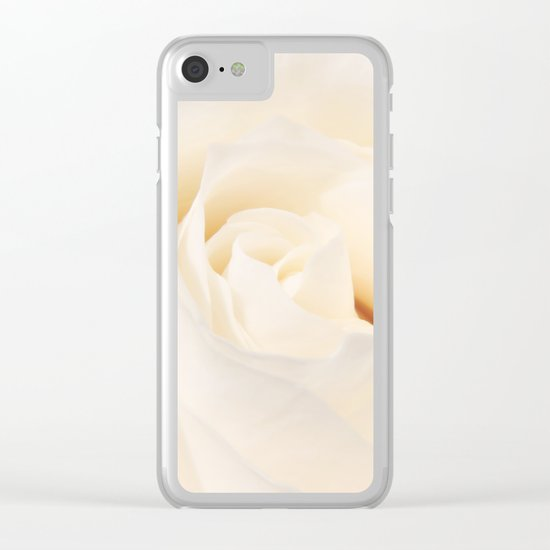White Winterrose - Rose- Roses Clear iPhone Case
