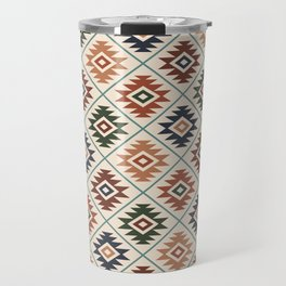 Aztec Symbol Pattern Col Mix Travel Mug