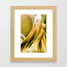Golden Flow Framed Art Print