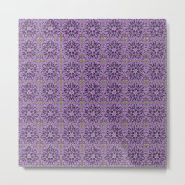 Tiled Abstract Of Pink Hydrangea Flowers Metal Print